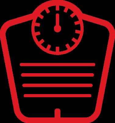 icona bilancia rossa tripgim